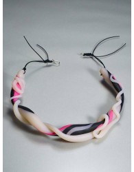 ZEBRA NEON NECKLACE FROM 'ROUTE X' SERIES