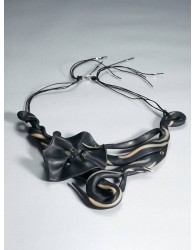 BLACK FLOWER NECKLACE FROM 'A ROSE IS A ROSE' SERIES
