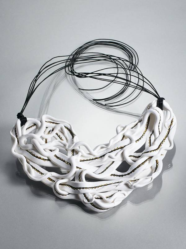 WHITE WAVE I NECKLACE FROM 'FIFTY SHADES OF WHITE' SERIES